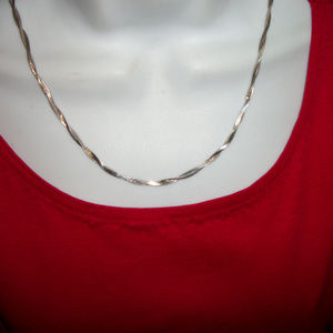 Jewelry - Sterling Silver Italy  2 Strand Braided Chain  19""